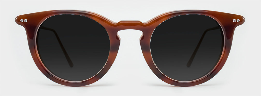 round polarised sunglasses frame