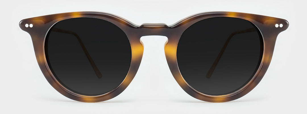 round tortoiseshell polarised sunglasses