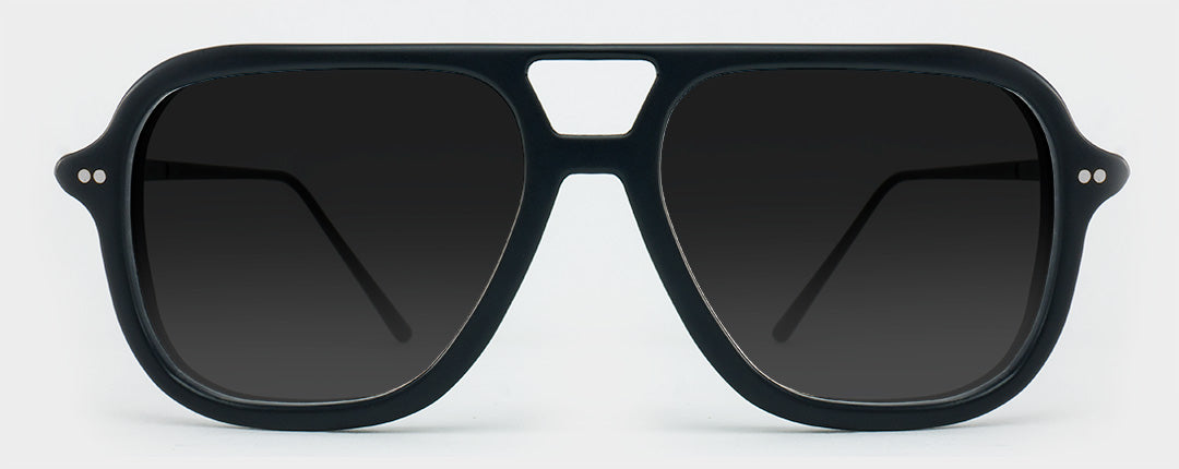 square black polarised aviator sunglasses