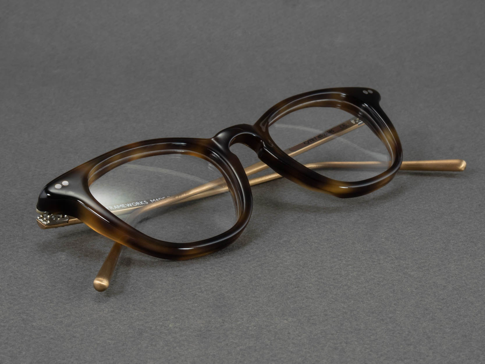 tortoiseshell glasses aerial view