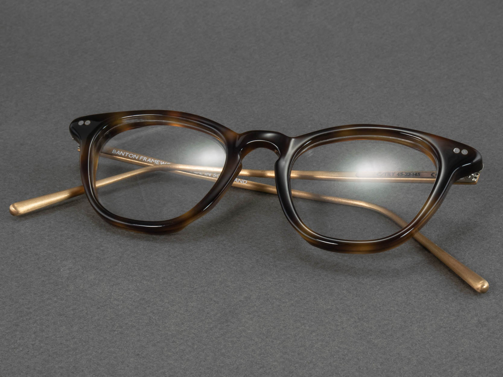tortoise shell glasses folded