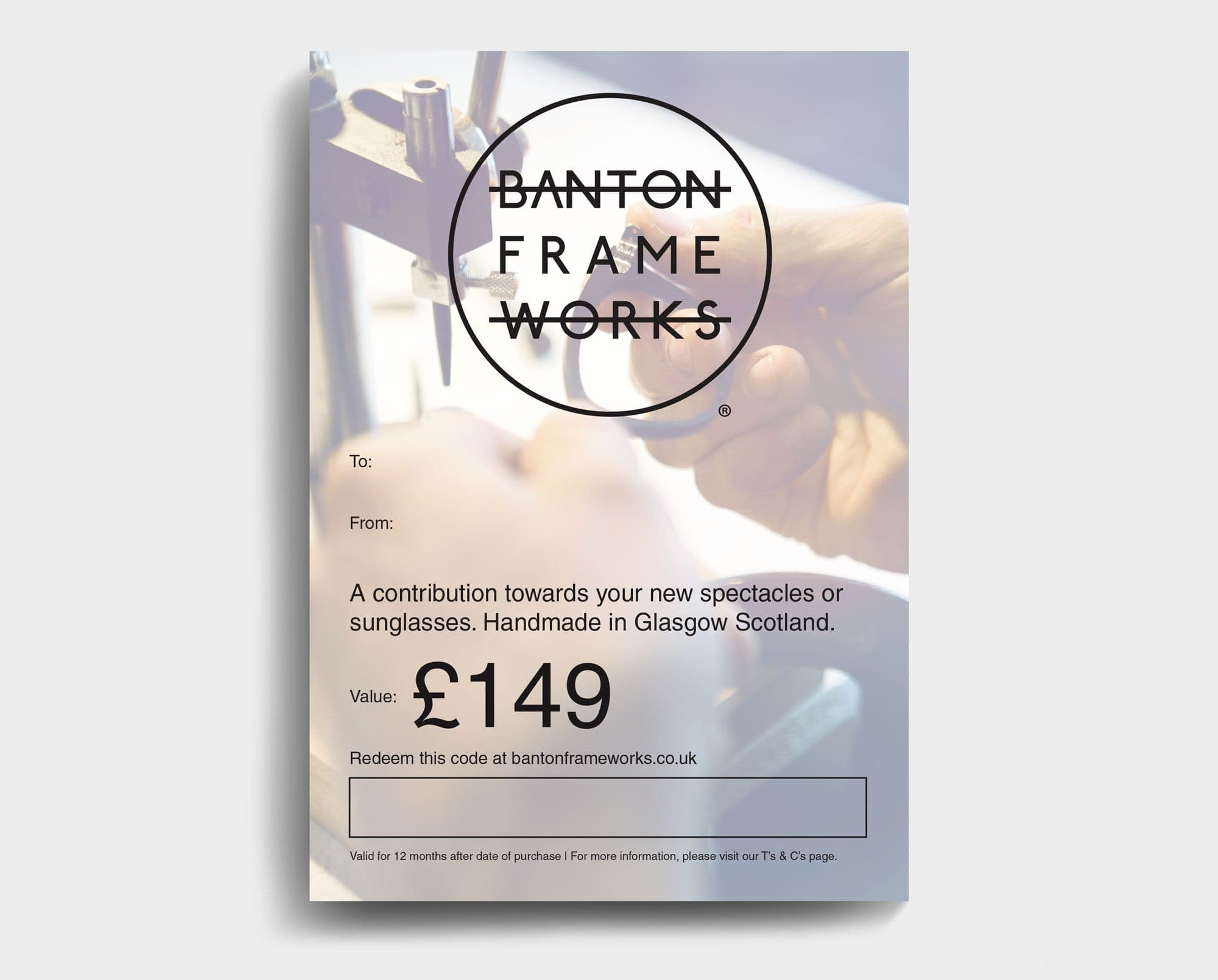 Banton Frameworks Gift Card worth 149 GBP
