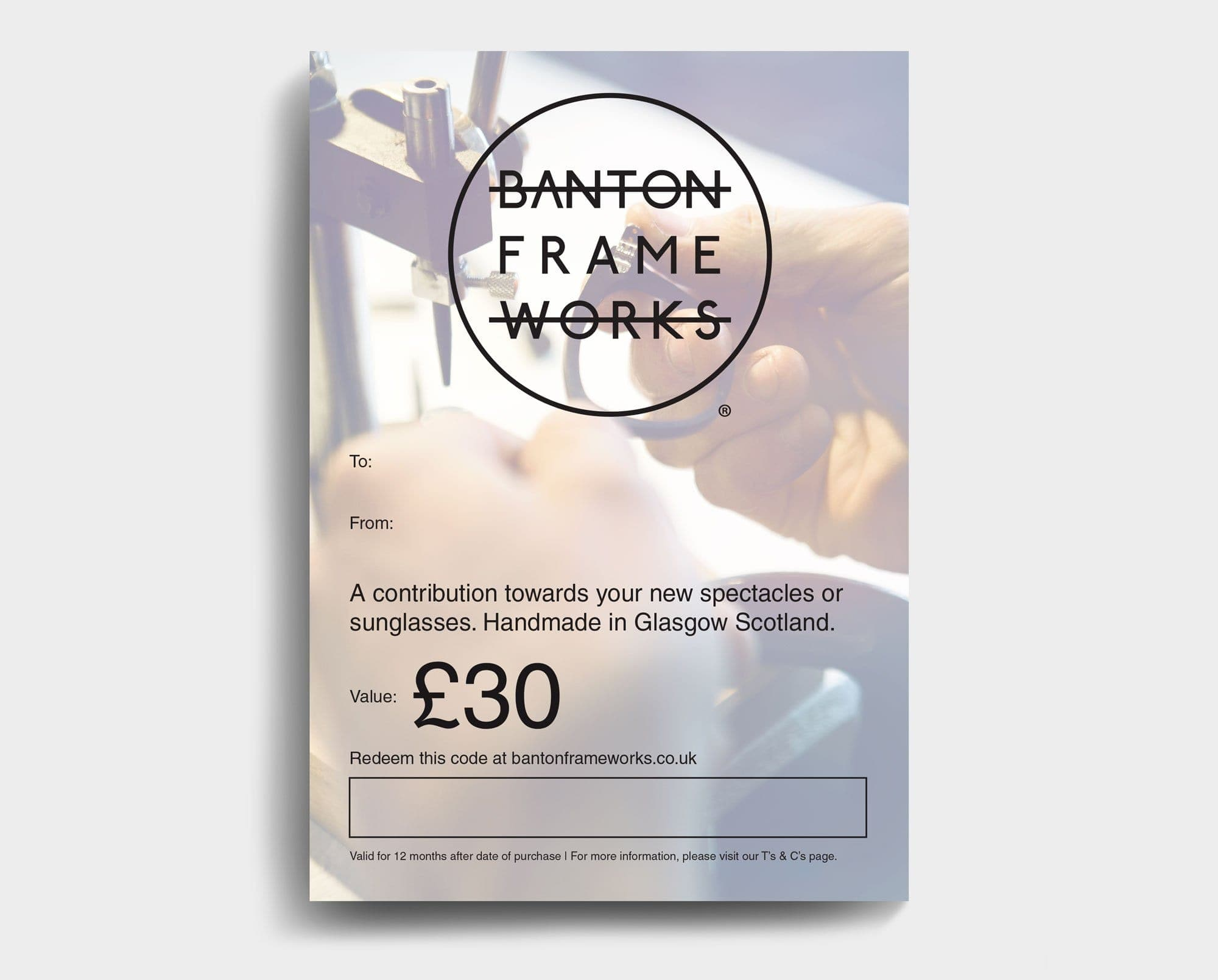 Banton Frameworks Gift Card worth 30 GBP