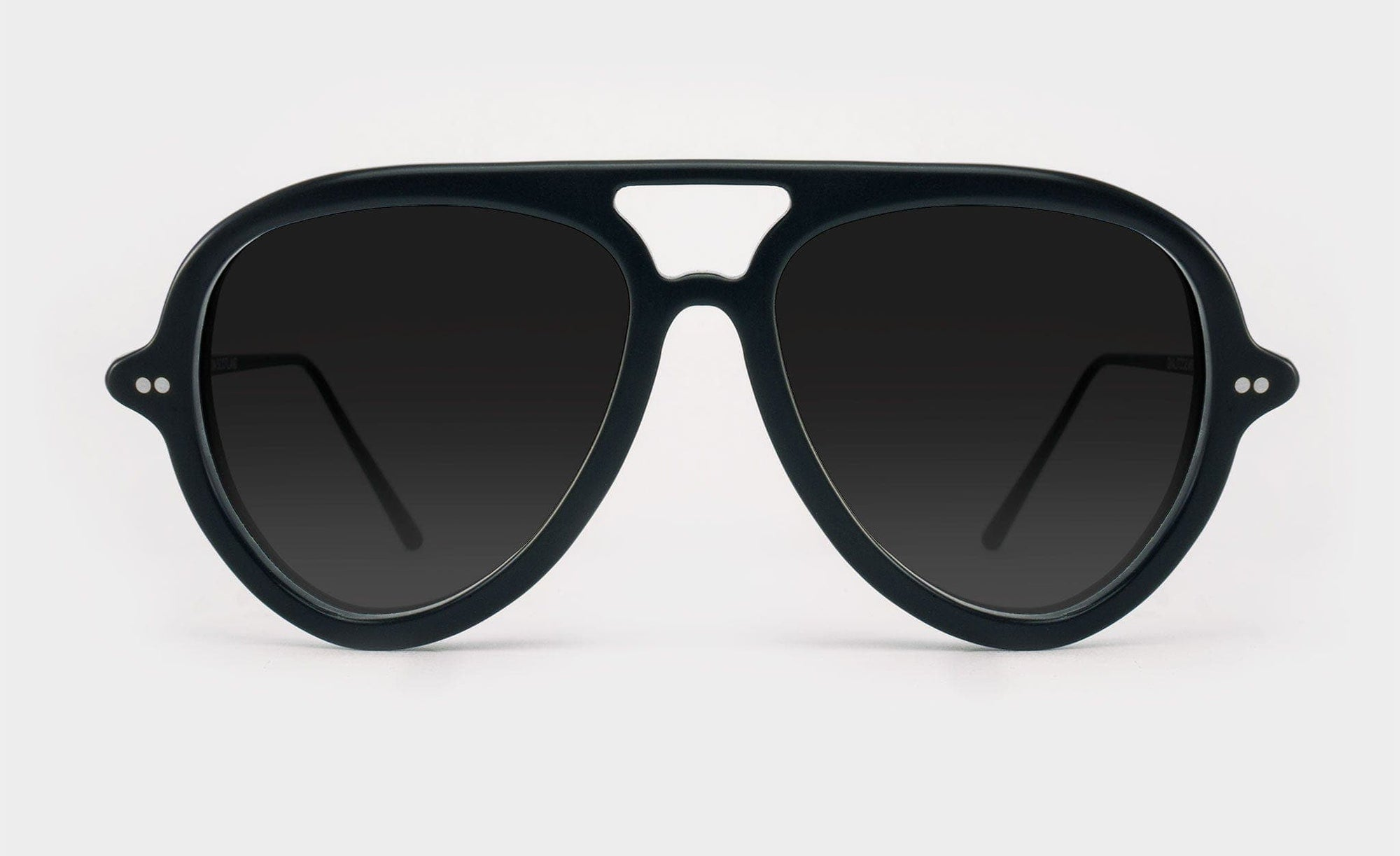 black polarised aviator sunglasses