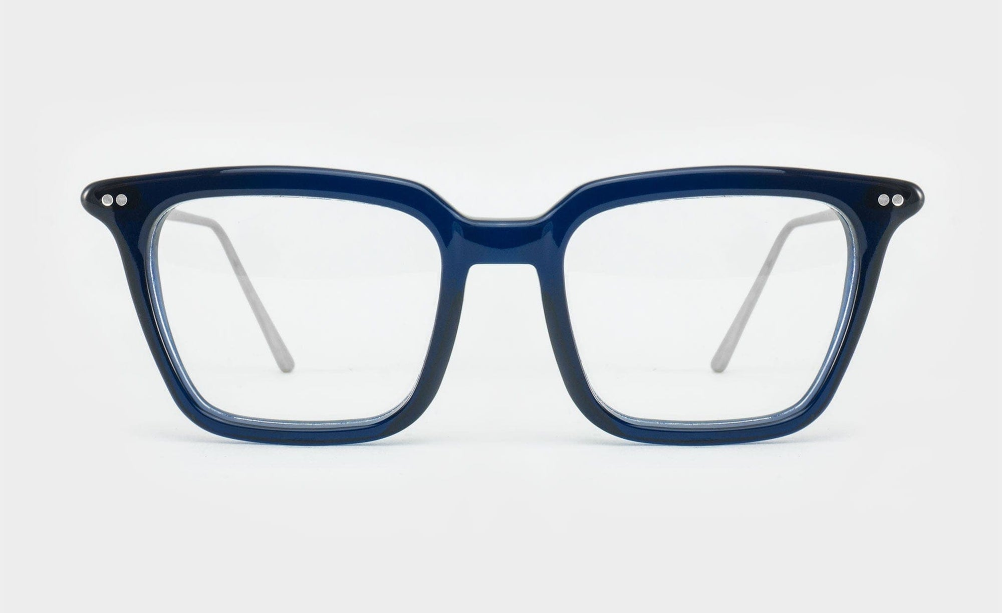 blue glasses optical frame square