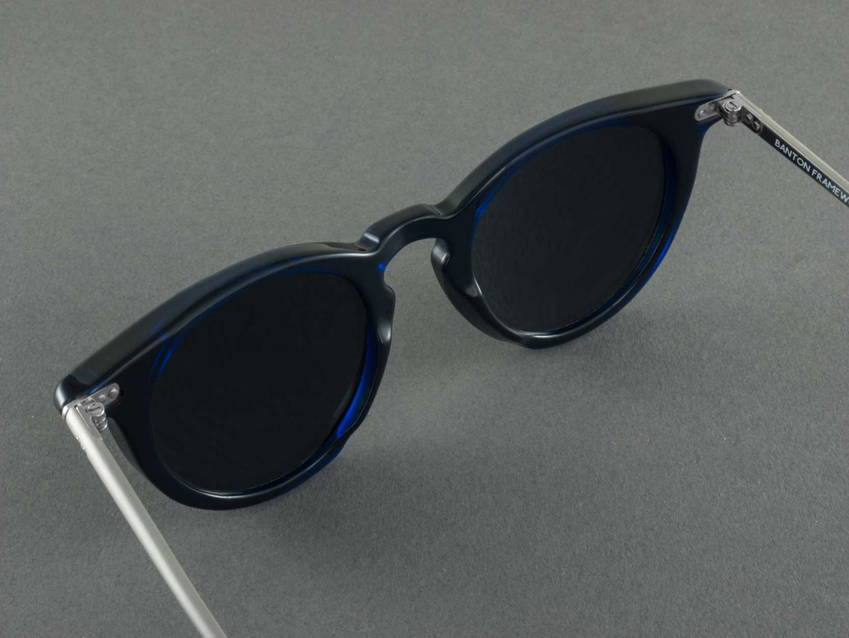 blue polarised sunglasses aerial view