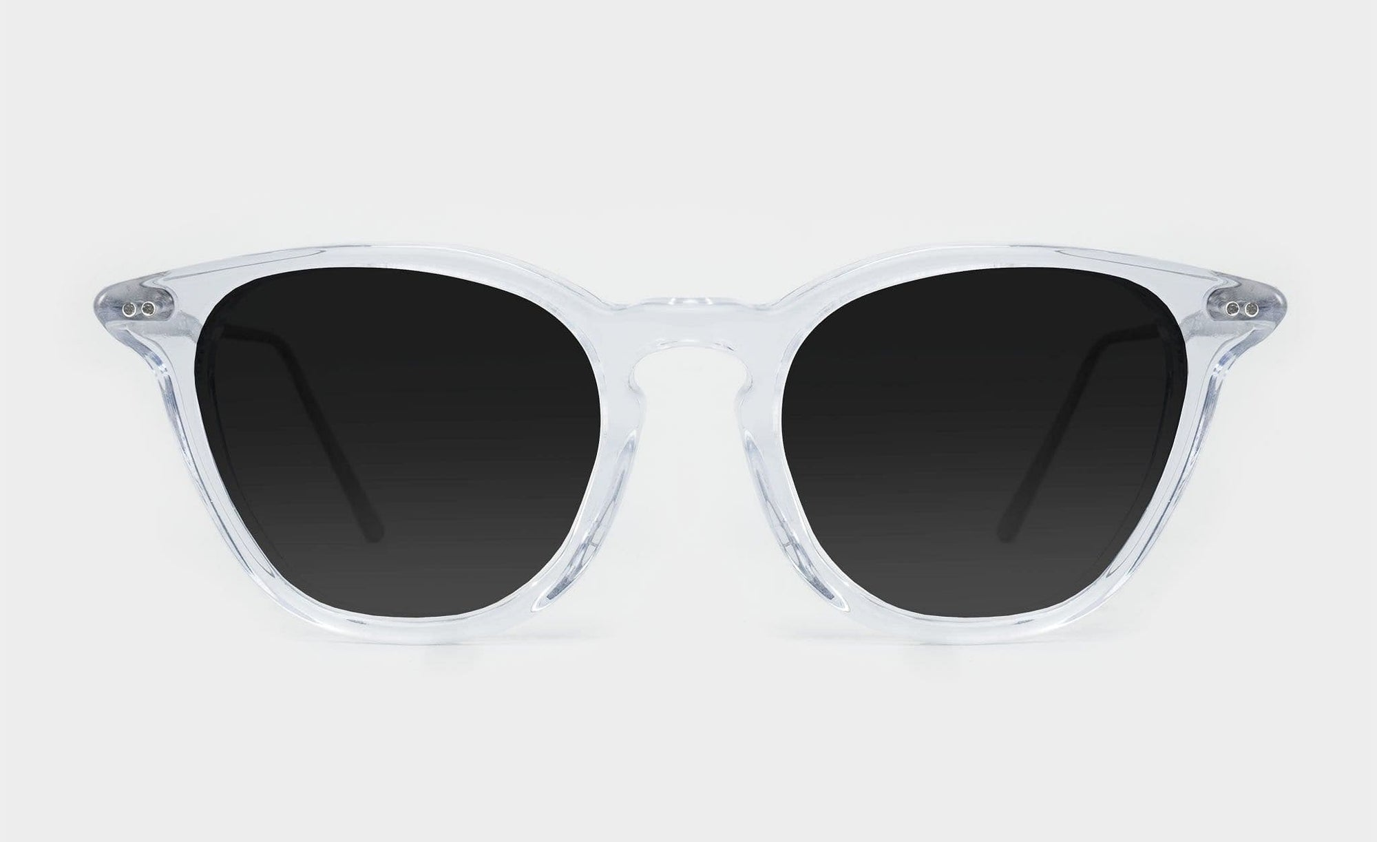 clear frame polarised sunglasses