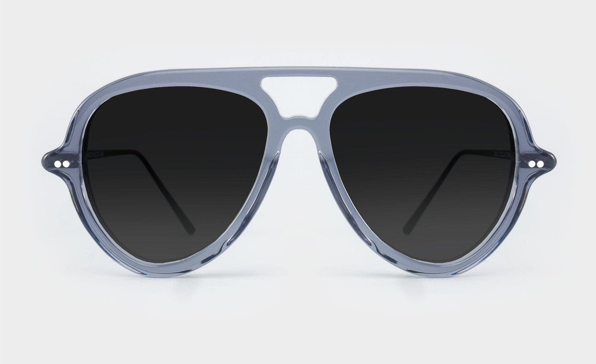 grey polarised aviator sunglasses
