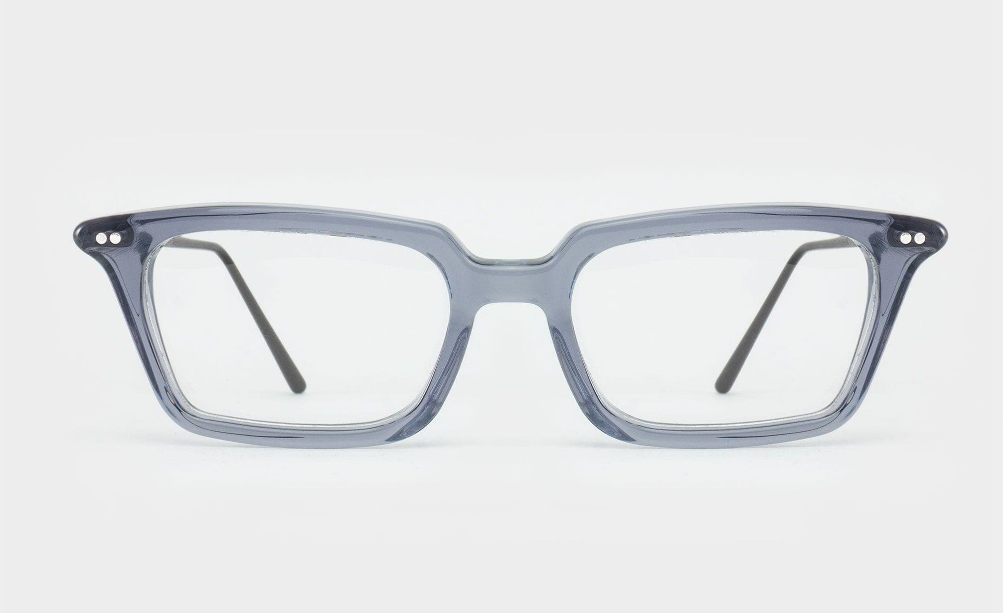 grey rectangular glasses frame