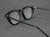 matte black glasses frame aerial view