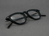 matte black glasses frame close up