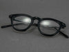 matte black glasses frame folded