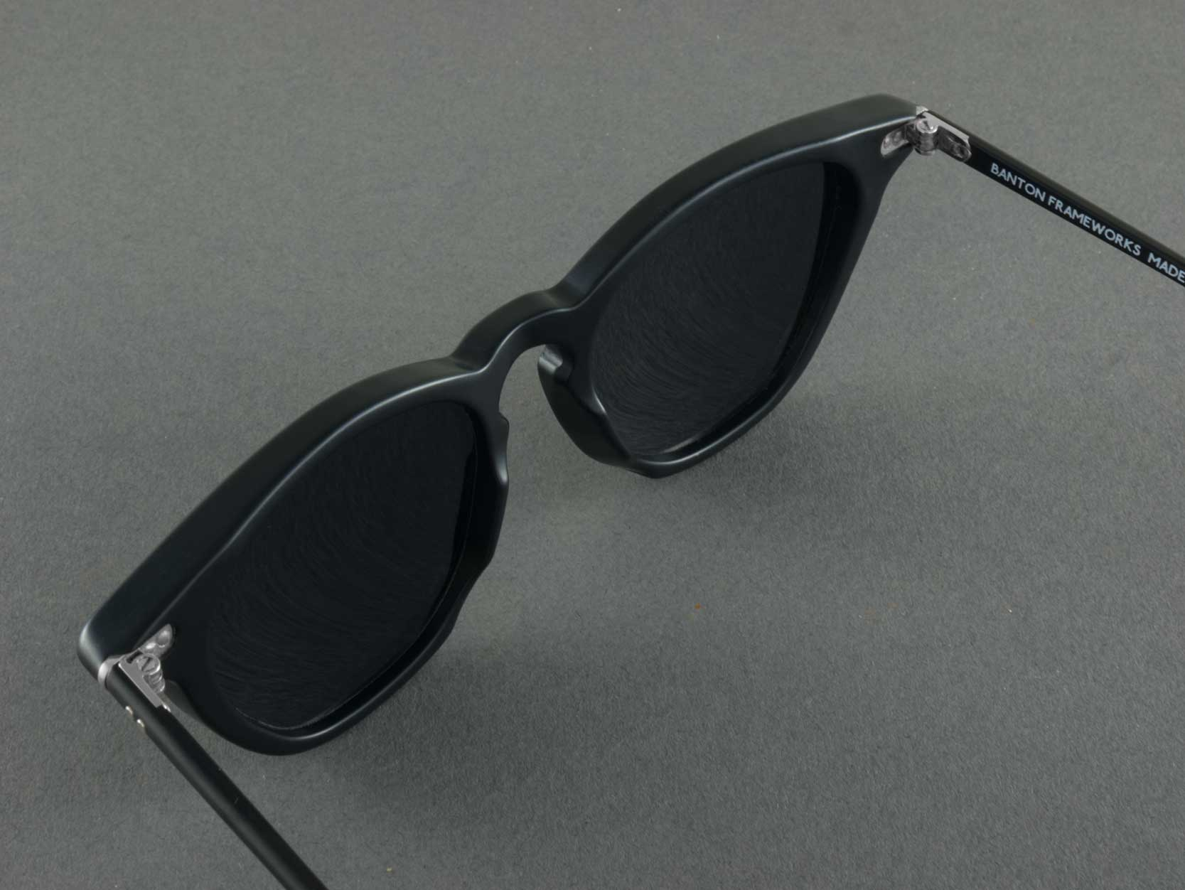 matte black polarised sunglasses aerial view