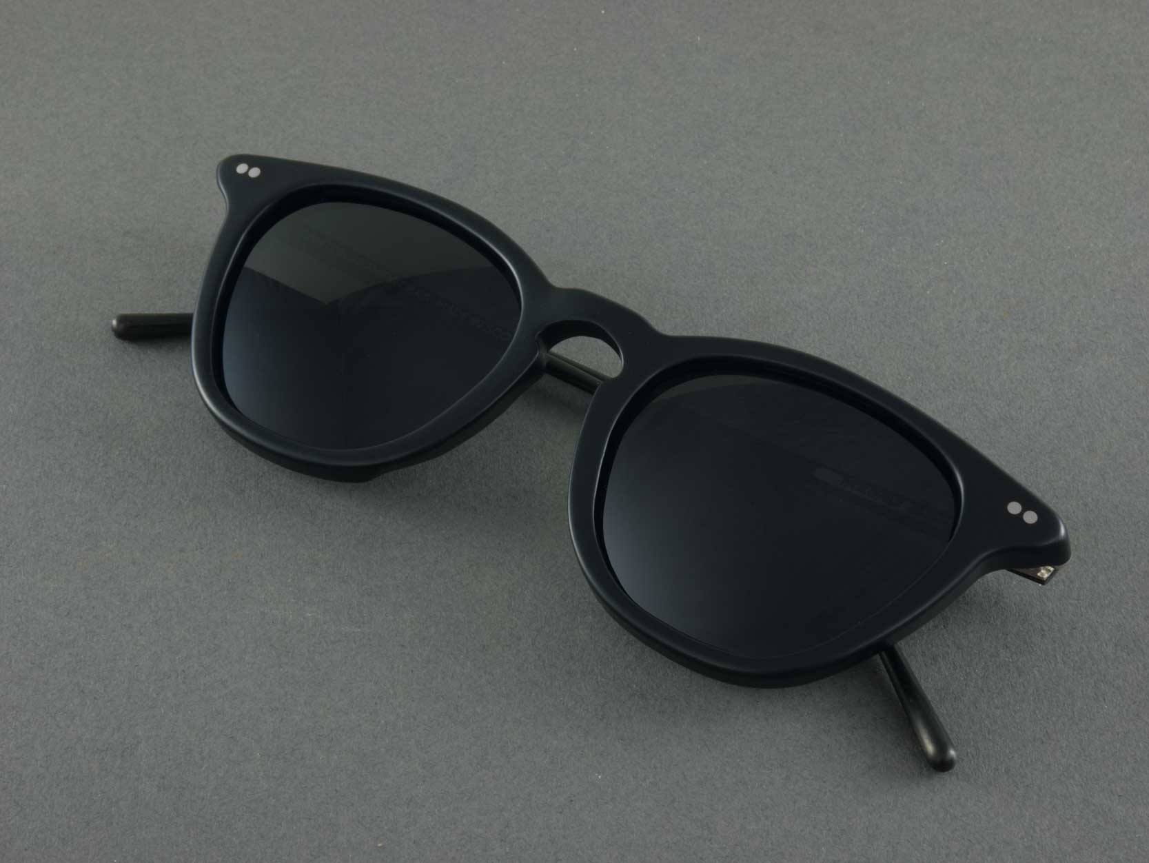 matte black polarised sunglasses folded