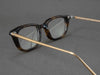 rectangular tortoiseshell glasses frame aerial view