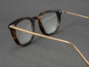 square tortoiseshell glasses aerial view
