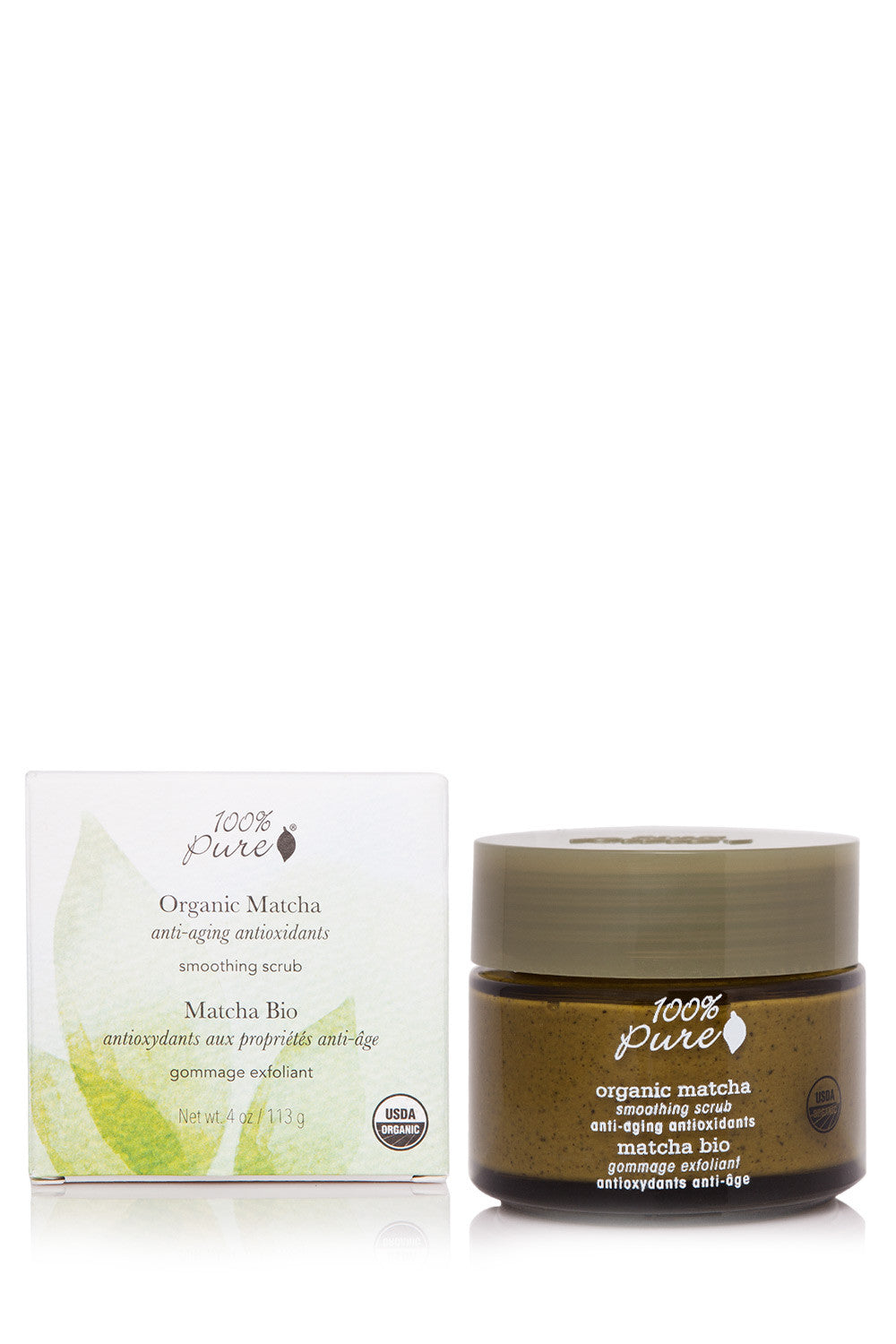 100% Pure Organic Matcha Anti-Aging Antioxidants Smoothing Scrub