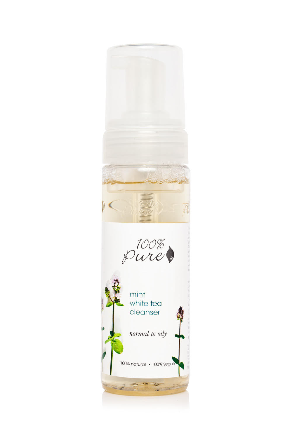 100% Pure Mint White Tea Facial Cleanser