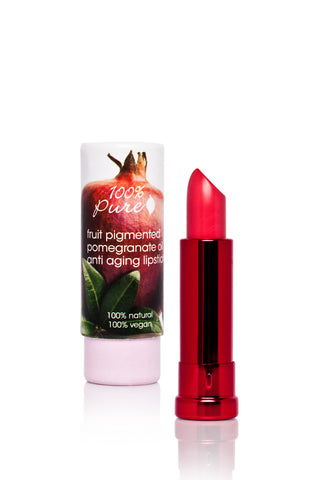 100% Pure Anti Aging Lipstick with Pomegranate oil