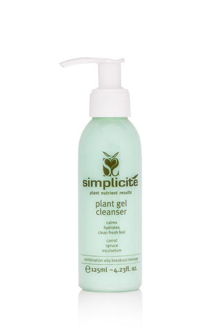 Simplicité Plant Gel Cleanser Combination Oil Skin