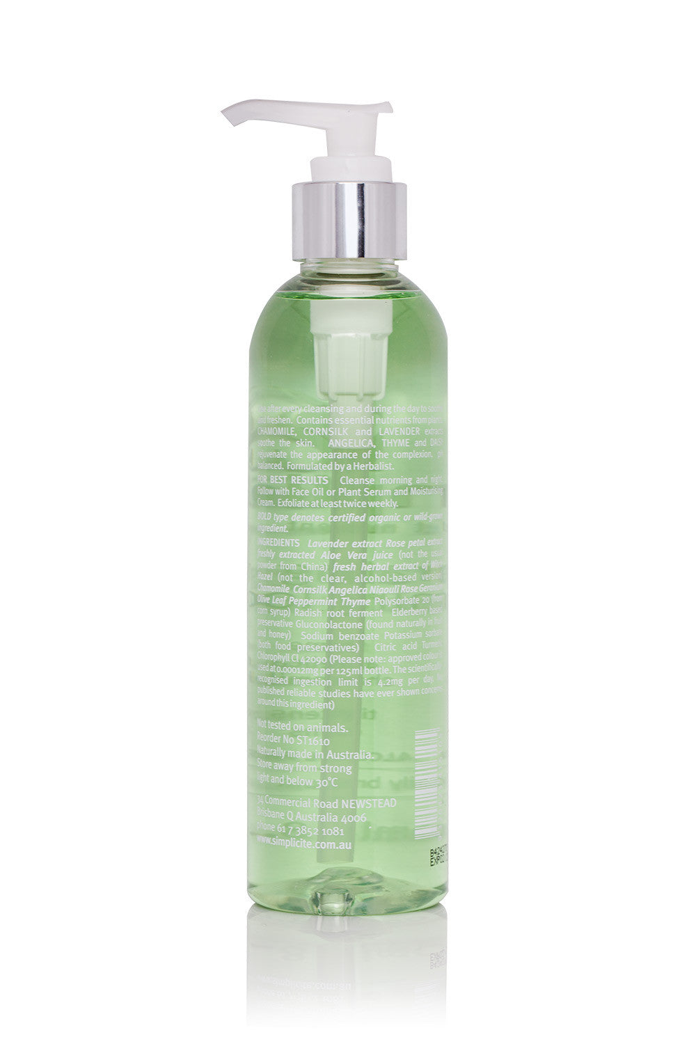 Simplicité Hydrating Floral Toning Lotion for Combination Oily Skin