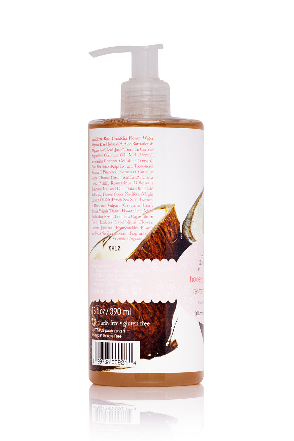 100 % Pure Honey & Virgin Coconut Restorative Shampoo for Dry Damaged Hair