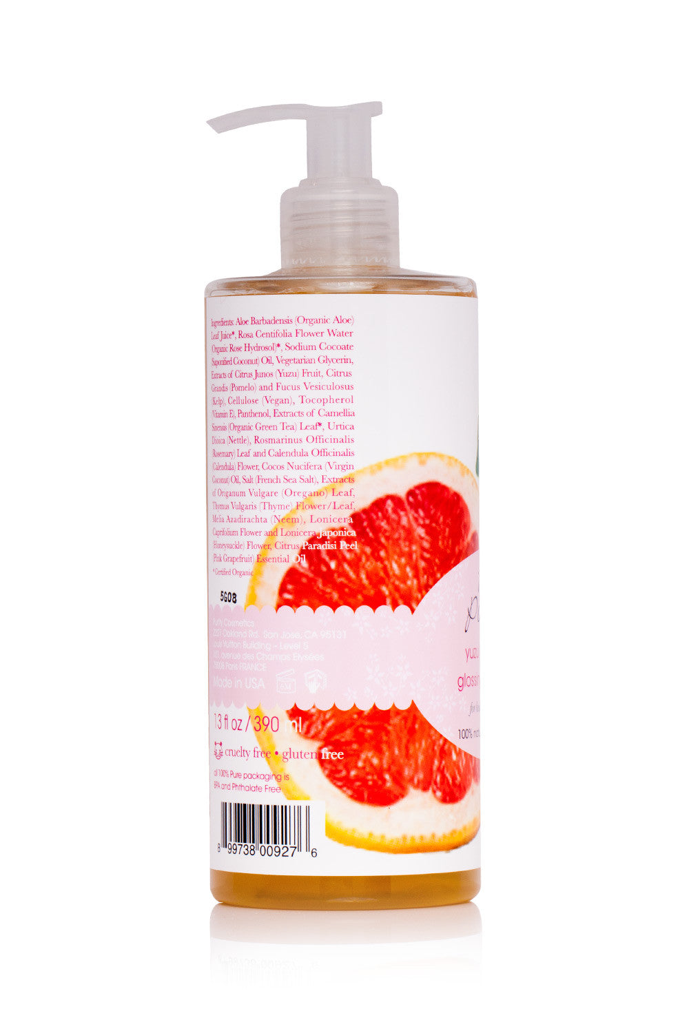 100% Pure Yuzu & Pomelo Shampoo for Glossy Hair
