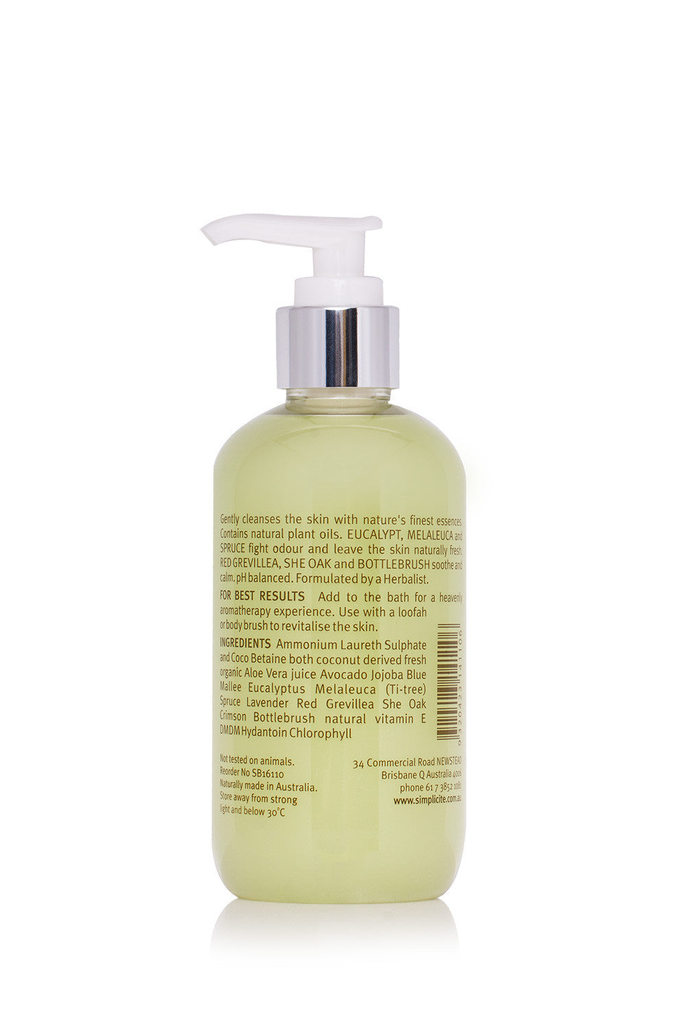 Simplicité Blue Mallee Shower Body Foam