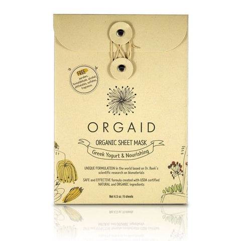 Orgaid Greek Yoghurt & Nourishing Organic Sheet Mask