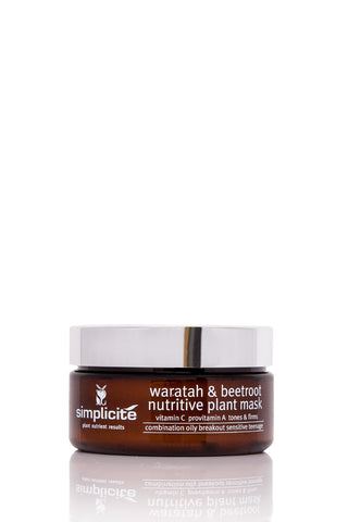 Simplicité Waratah and Beetroot Plant Nutrient Mask