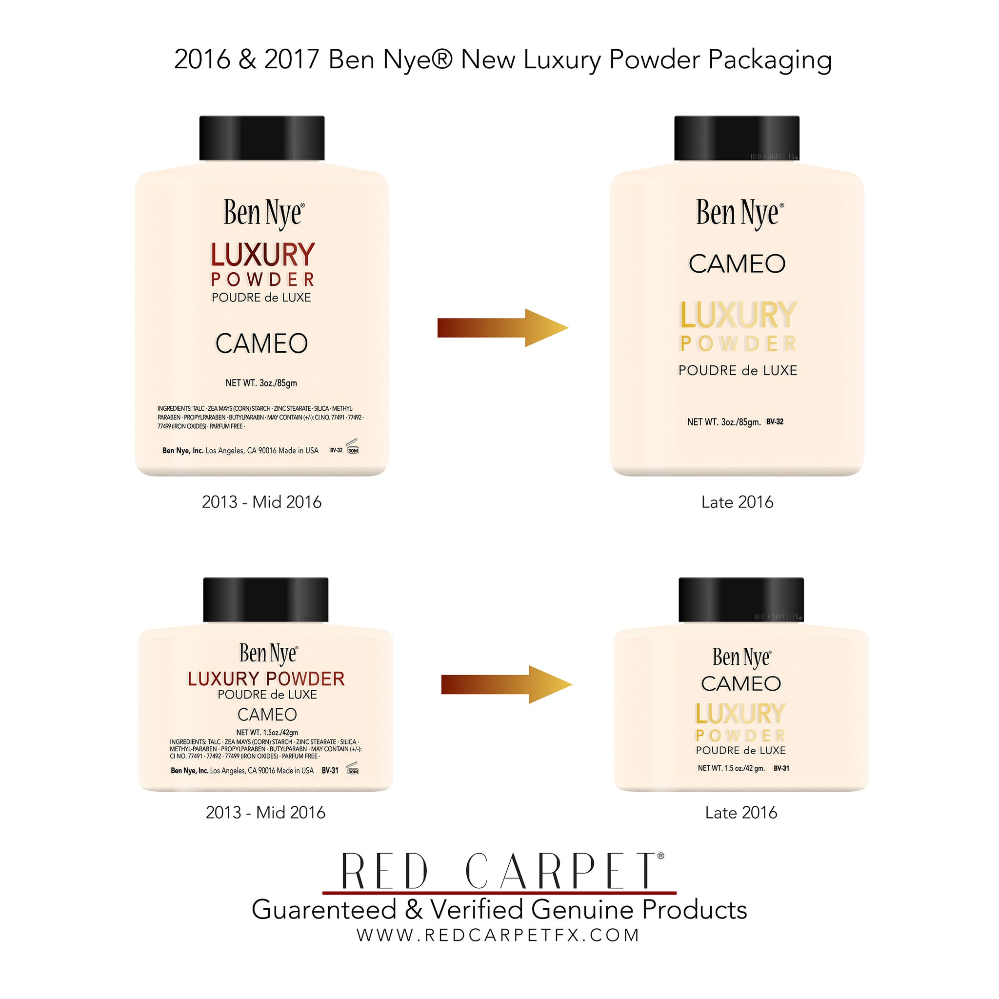 Ben Nye Product Packaging Update - New Luxury Powders