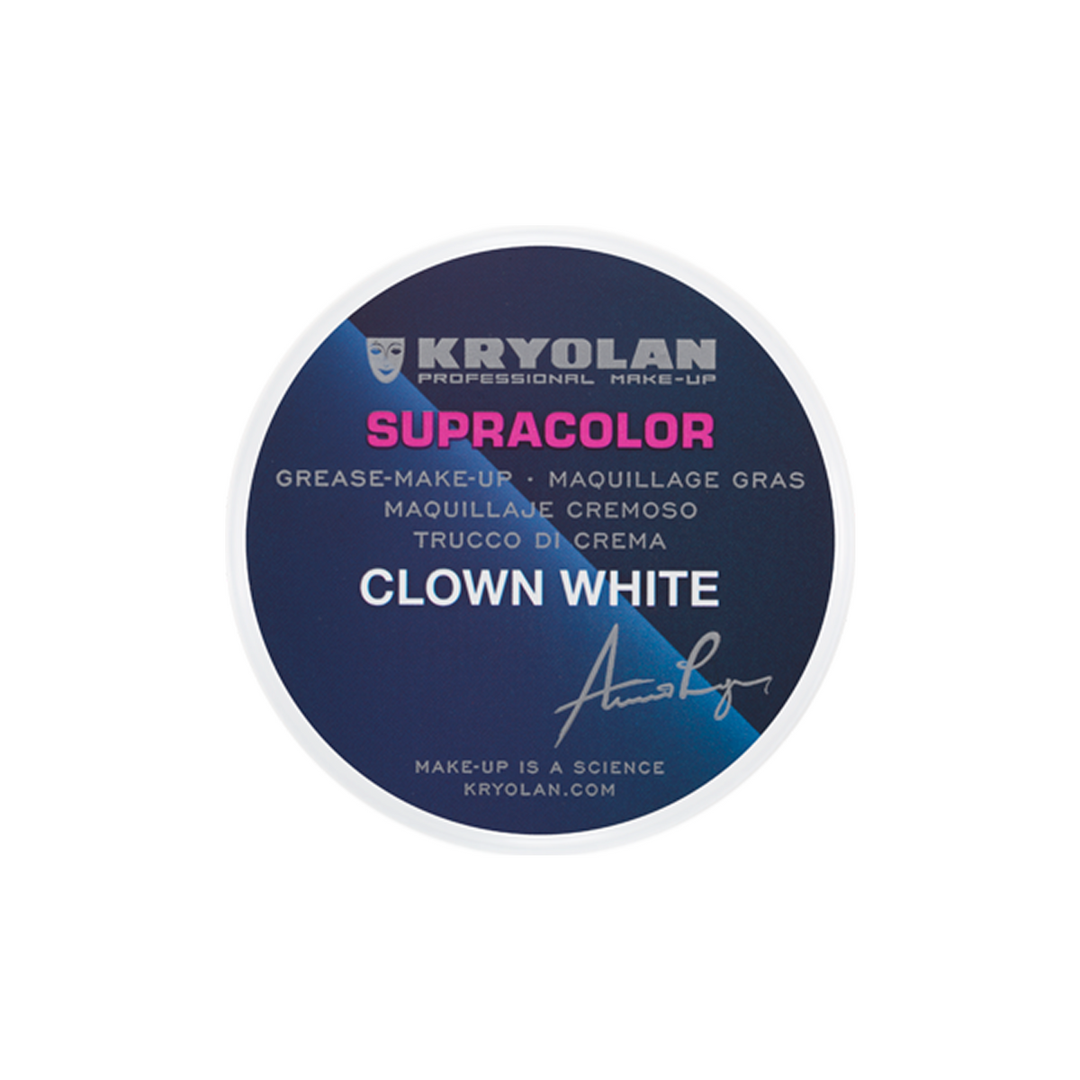 Kryolan Supracolor Clown White - Red Carpet FX - Professional Makeup