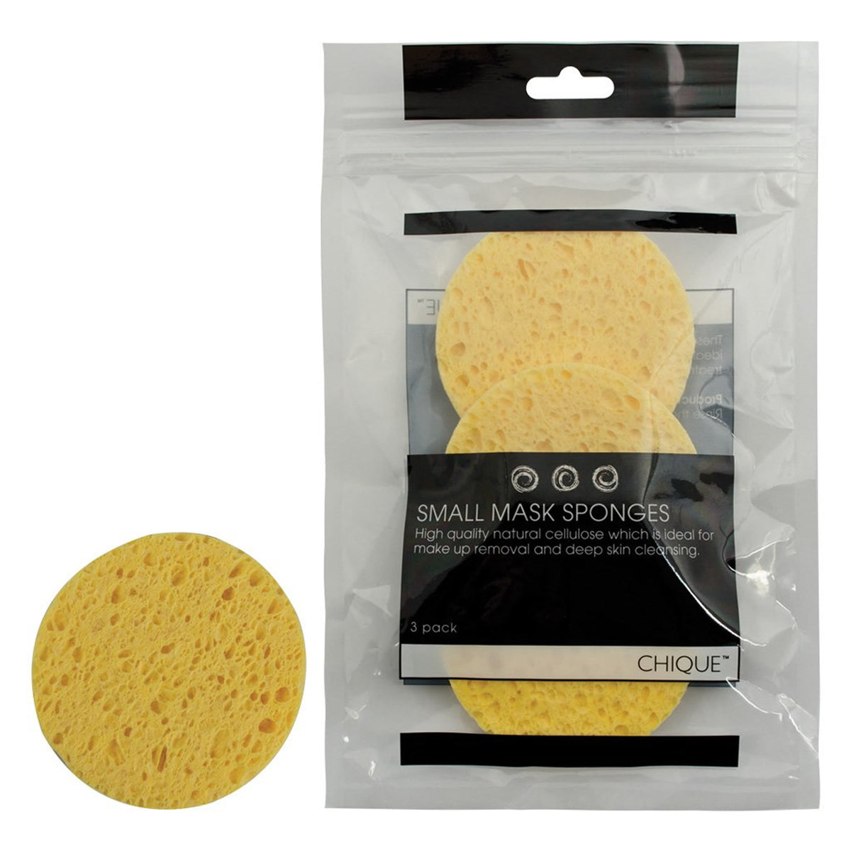 Royal & Langnickel Chique Small Mask Sponges (3pc) - Red Carpet FX - Professional Makeup