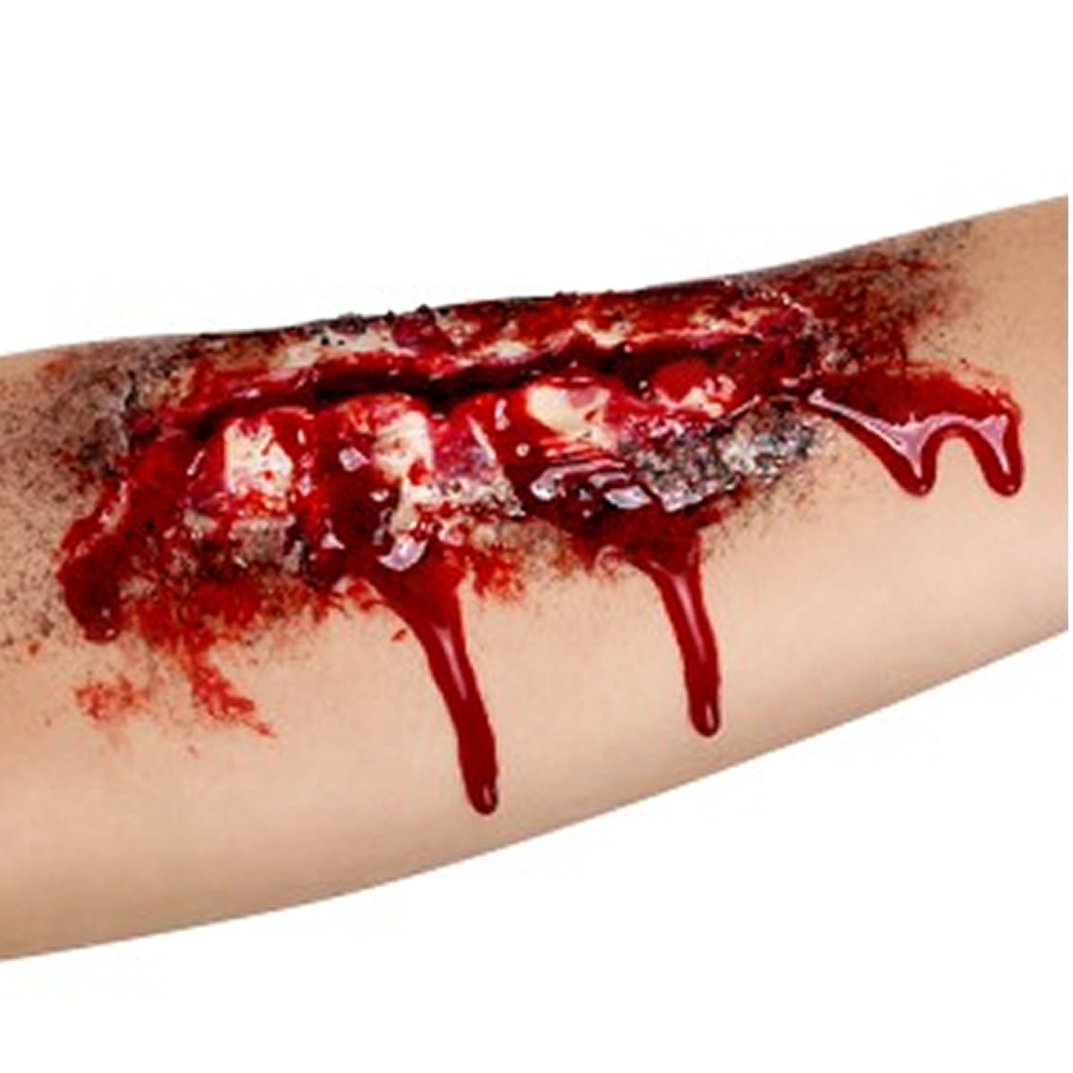 Smiffy's Prosthetic Open Wound Scar - Red Carpet FX - Professional Makeup