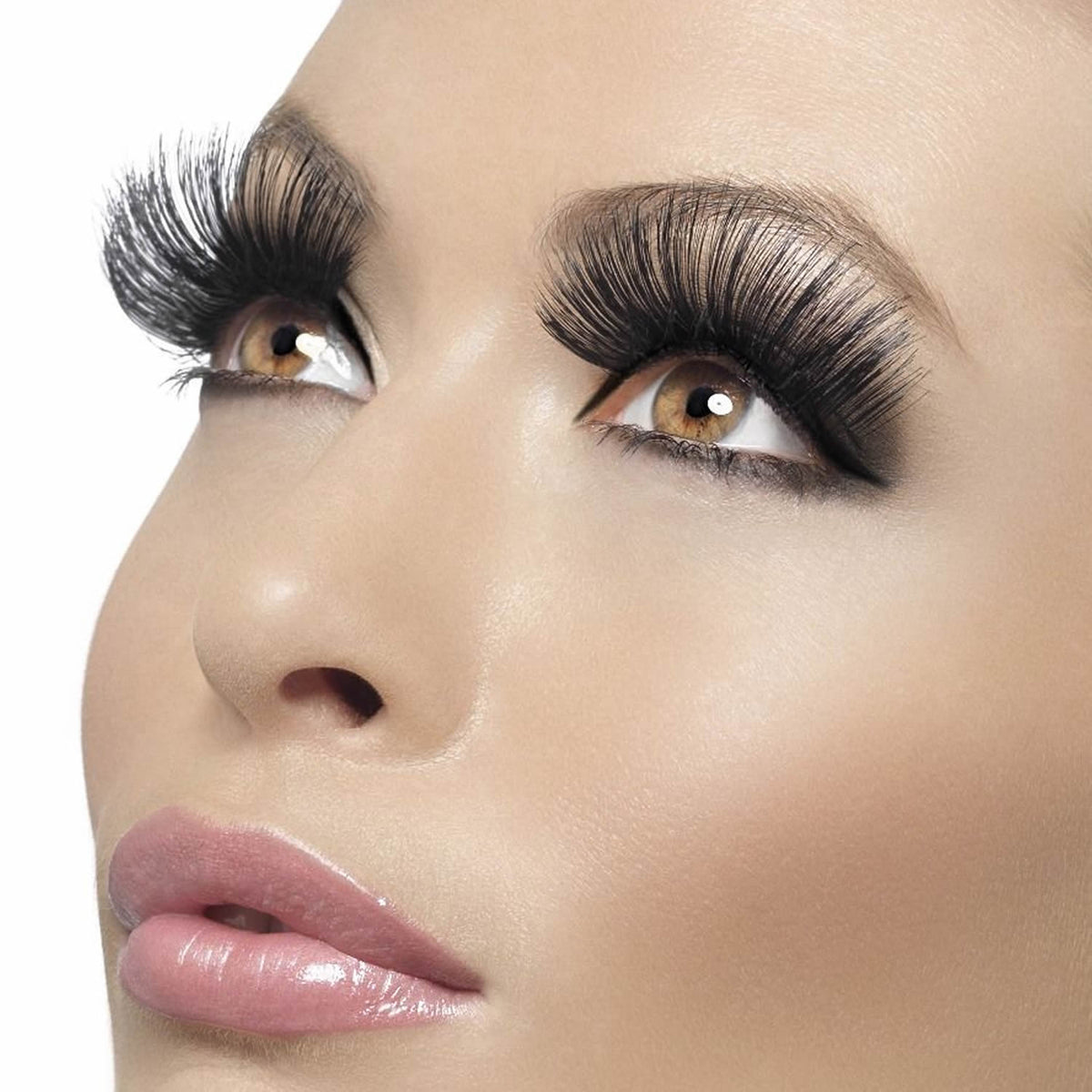 Fever False Eyelashes - 60s Style Long Black - Red Carpet FX - Professional Makeup