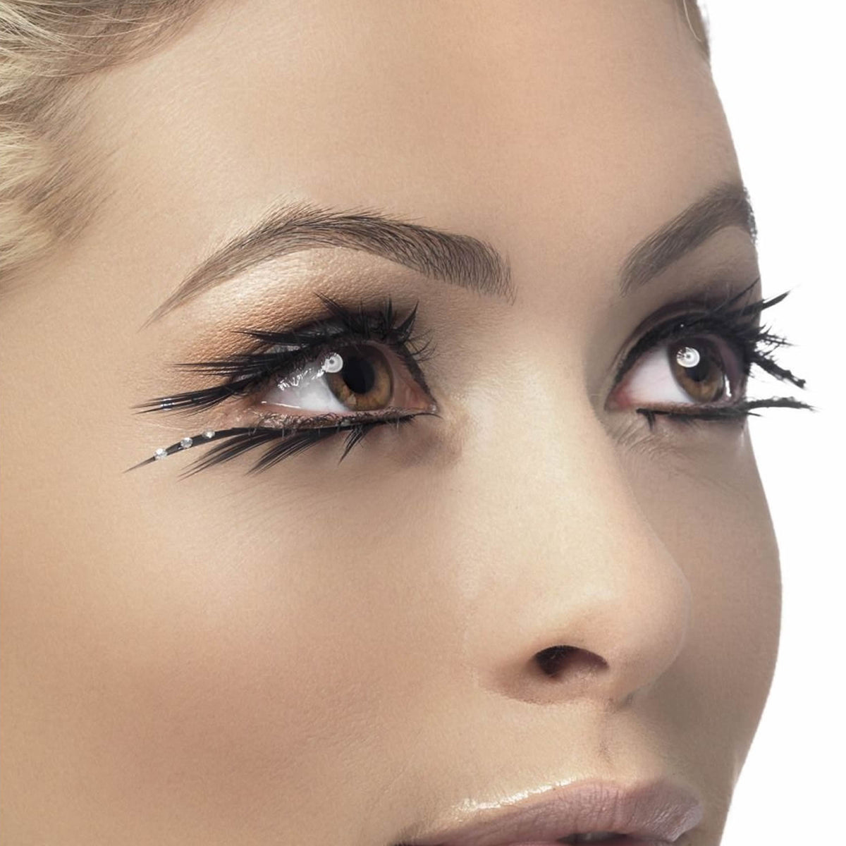 Fever False Eyelashes - Black Sparkle (Top & Bottom) - Red Carpet FX - Professional Makeup