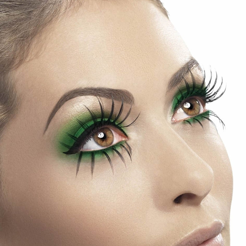 Fever False Top & Bottom Eyelashes - Extra Long Wispy Black