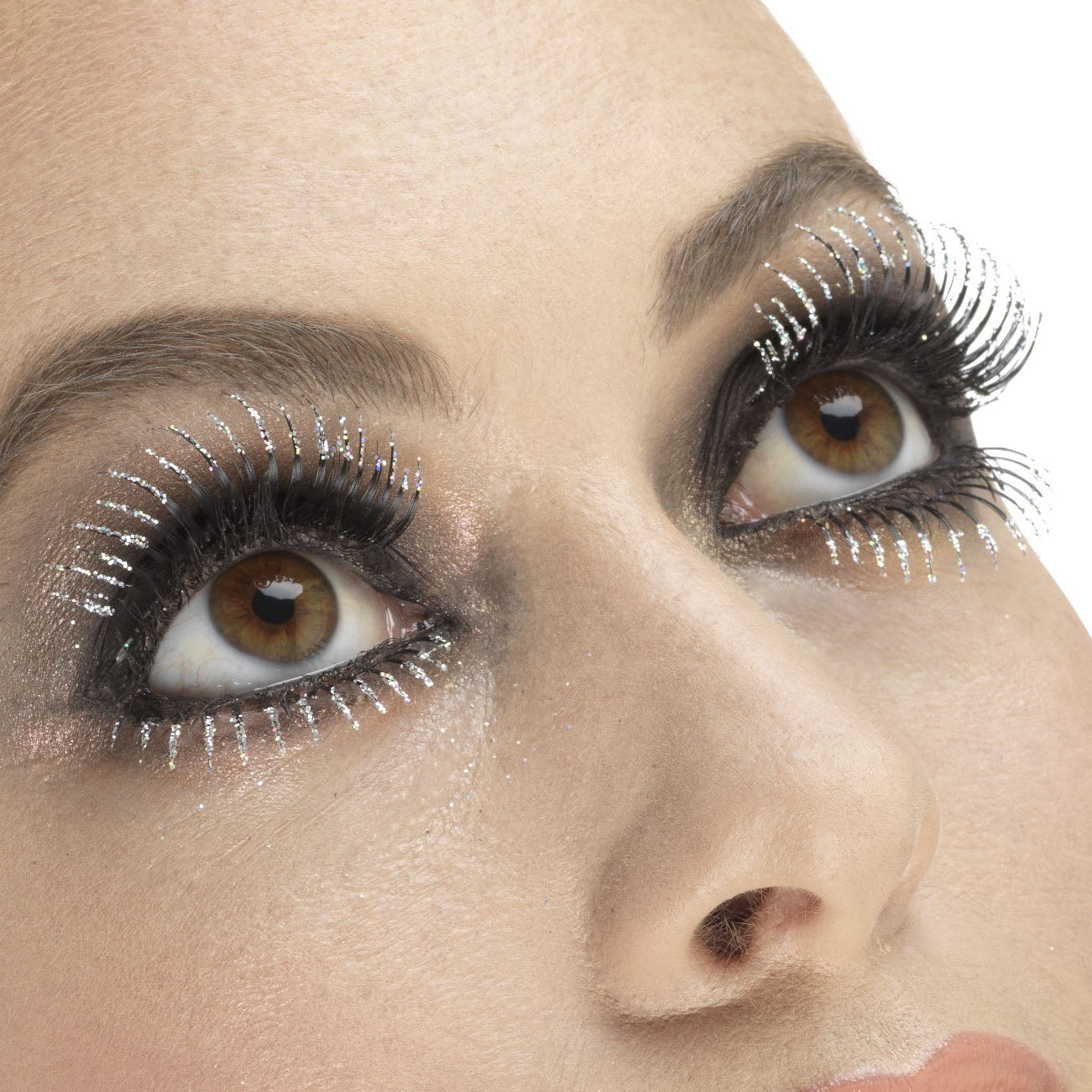 Fever False Eyelashes - Silver Glitter Top & Bottom Set - Red Carpet FX - Professional Makeup