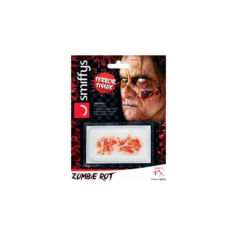 Smiffys Hyper-Realistic Water Transfer Wound - Zombie Rot - Red Carpet FX - Professional Makeup