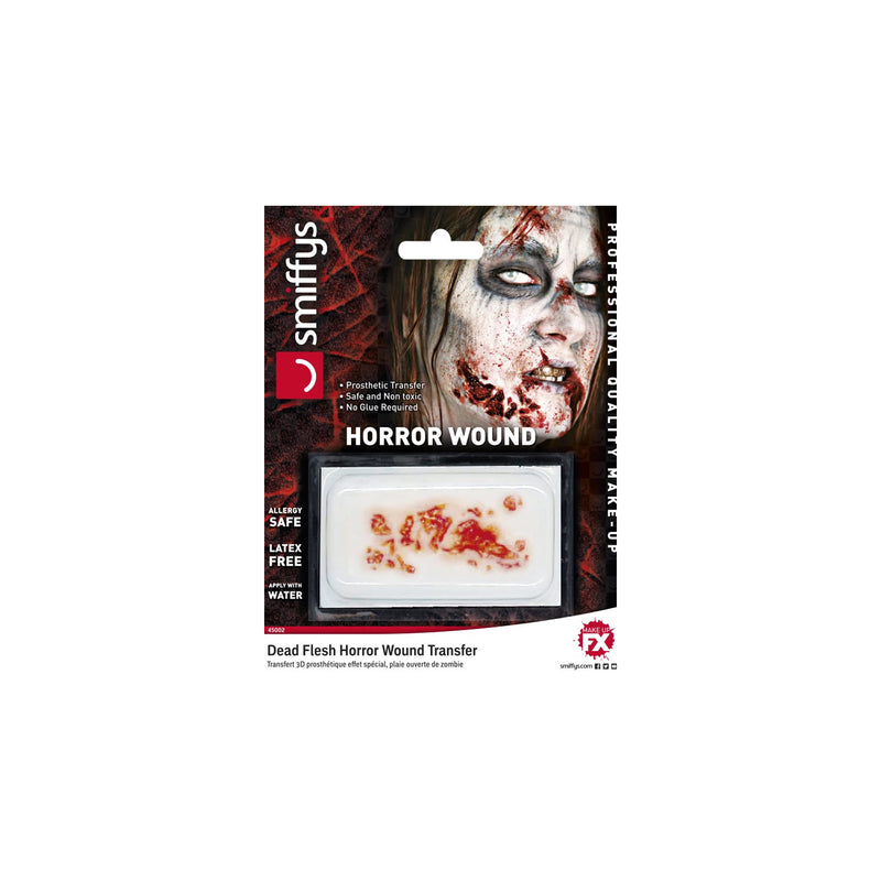 Smiffys Hyper-Realistic Water Transfer Wound - Dead Flesh - Red Carpet FX - Professional Makeup