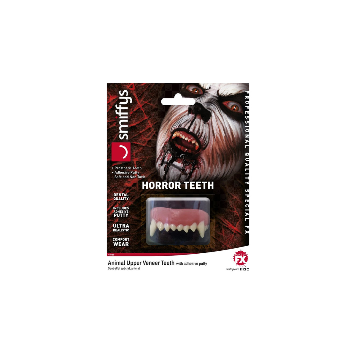 Smiffys Prosthetic Animal Horror Teeth - Red Carpet FX - Professional Makeup
