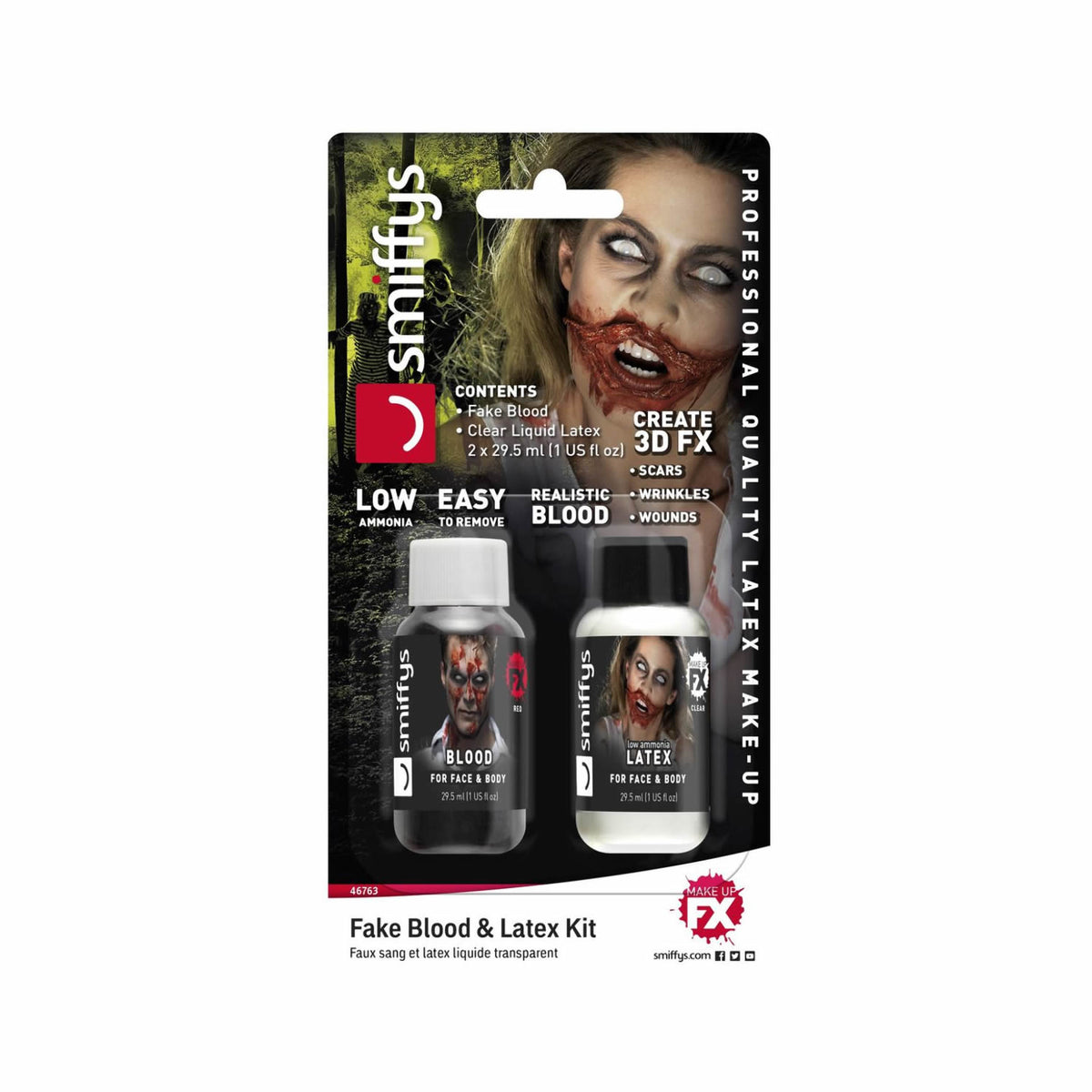 Smiffys Fake Blood & Liquid Latex Set