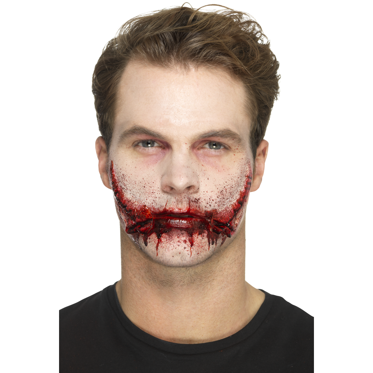 Smiffys Latex Stitched Smile Prosthetic - Red Carpet FX - Professional Makeup