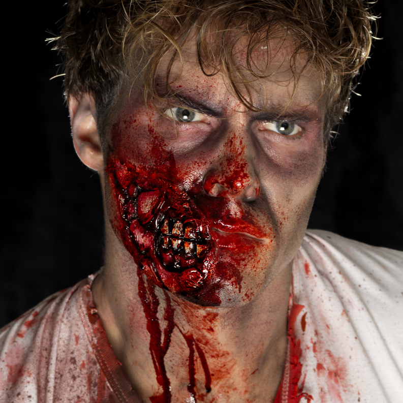 Smiffys Latex Zombie Jaw Prosthetic - Red Carpet FX - Professional Makeup