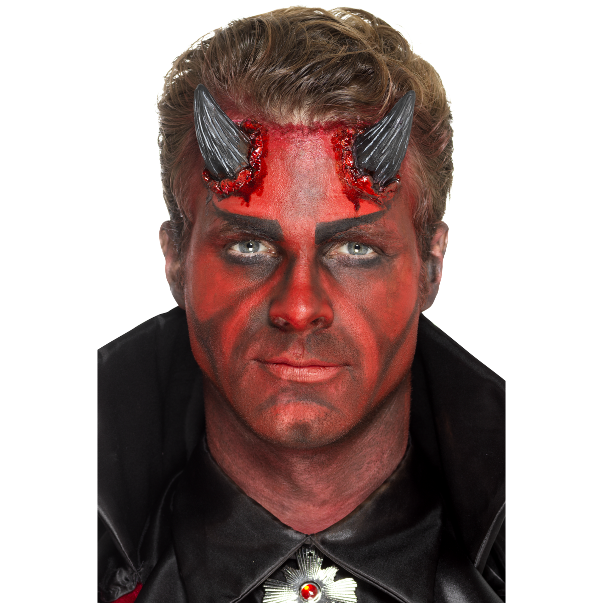 Smiffys Latex Realistic Devil Horns Prosthetic - Red Carpet FX - Professional Makeup