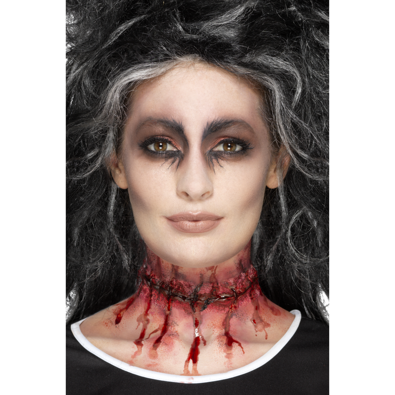 Make-up FX Latex Stitched Neck Scar Prosthetic