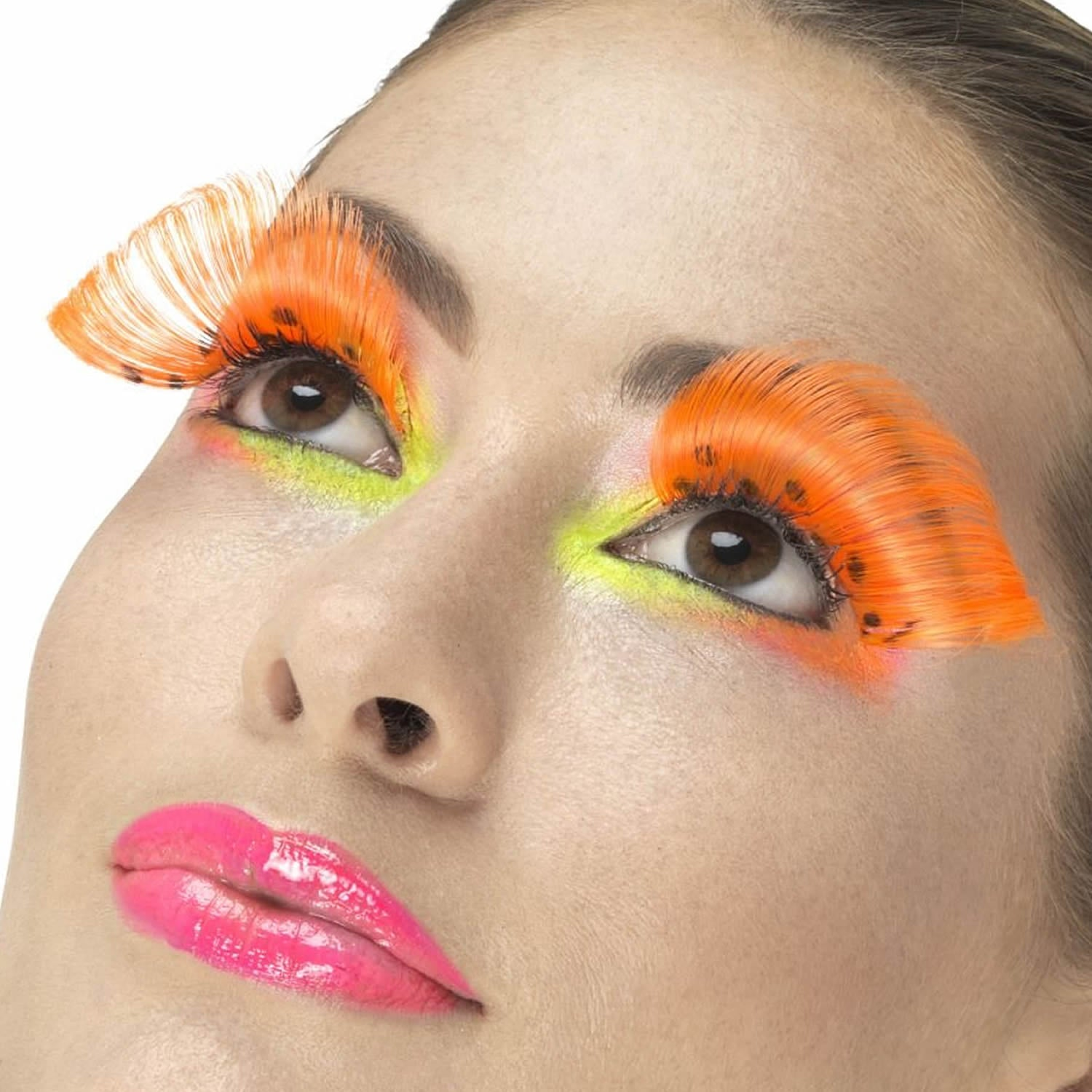 Fever False Eyelashes - 80s Polka Dot Neon Orange - Red Carpet FX - Professional Makeup