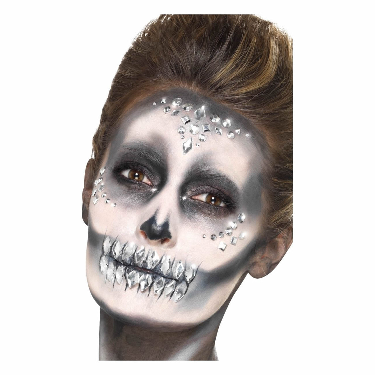 Smiffys Silver Jewel Face Gems - Red Carpet FX - Professional Makeup