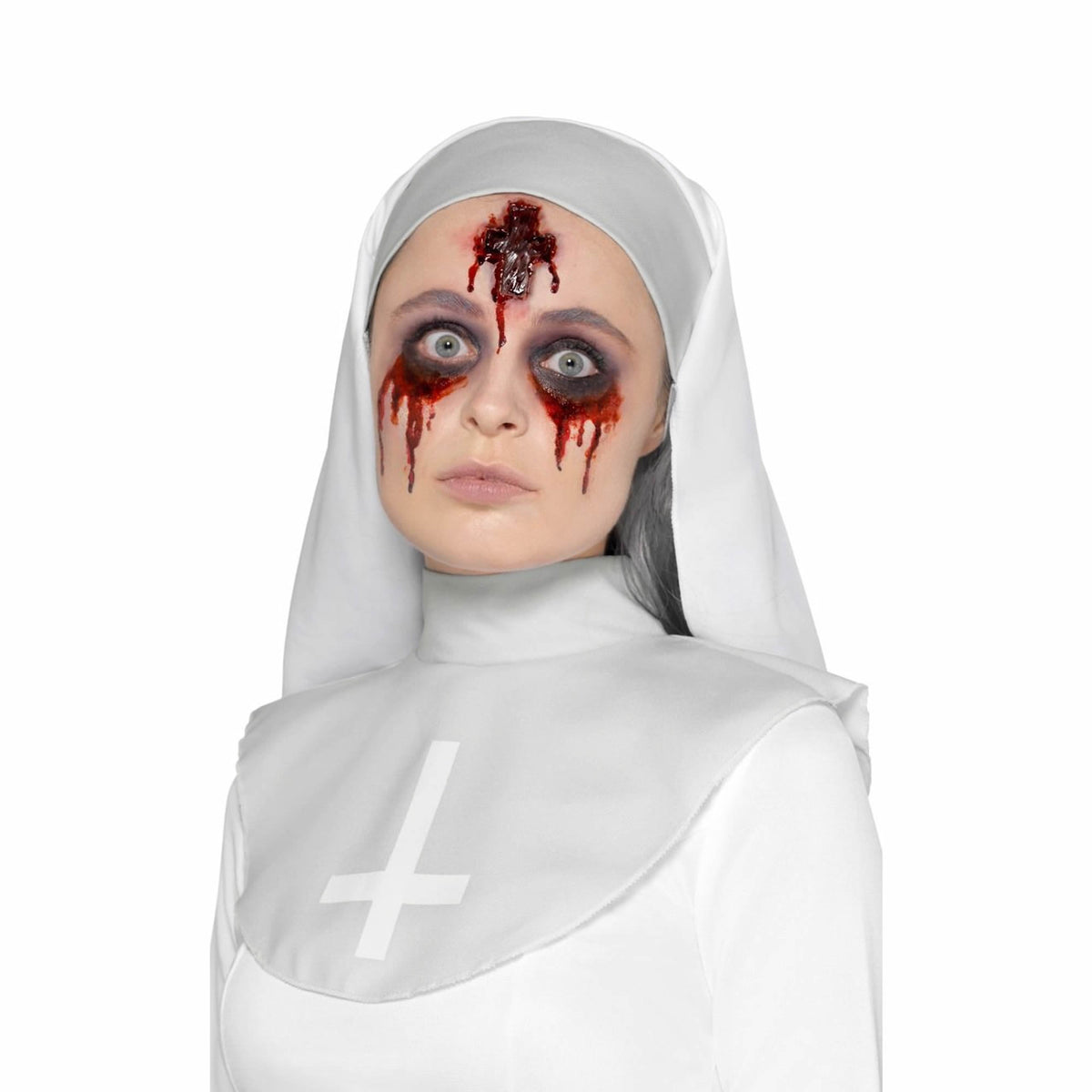 Smiffys Latex Inverted Cross Wound Prosthetic - Red Carpet FX - Professional Makeup