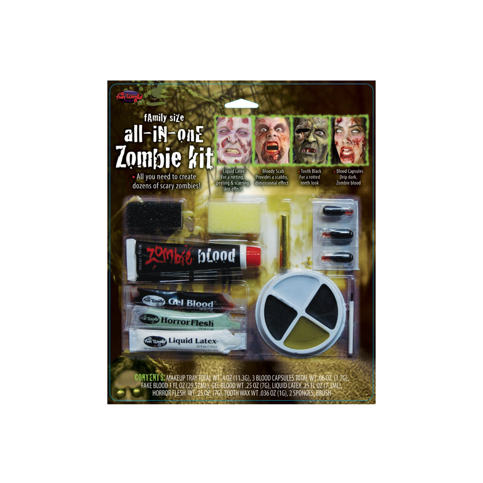 Fun World Family Size All-In-One Zombie Kit